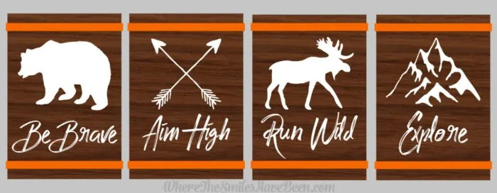 Rustic Woodland Animal Nursery Signs | Where The Smiles Have Been