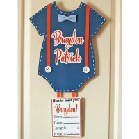 Personalized Newborn Baby Door Hanger for Hospital & Home