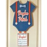 Personalized Newborn Baby Door Hanger for Hospital & Home