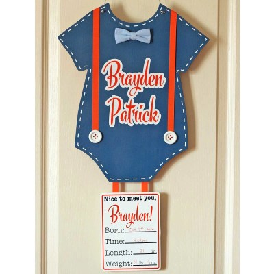 Personalized Baby Door Hanger for Hospital & Home | Where The Smiles Have Been