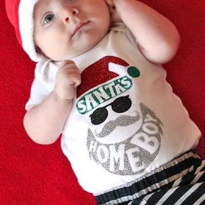 Cool & Hip 'Santa's Homeboy' Christmas Onesie