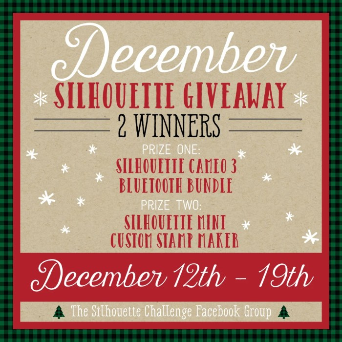 December Silhouette Giveaway!  Two Winners!