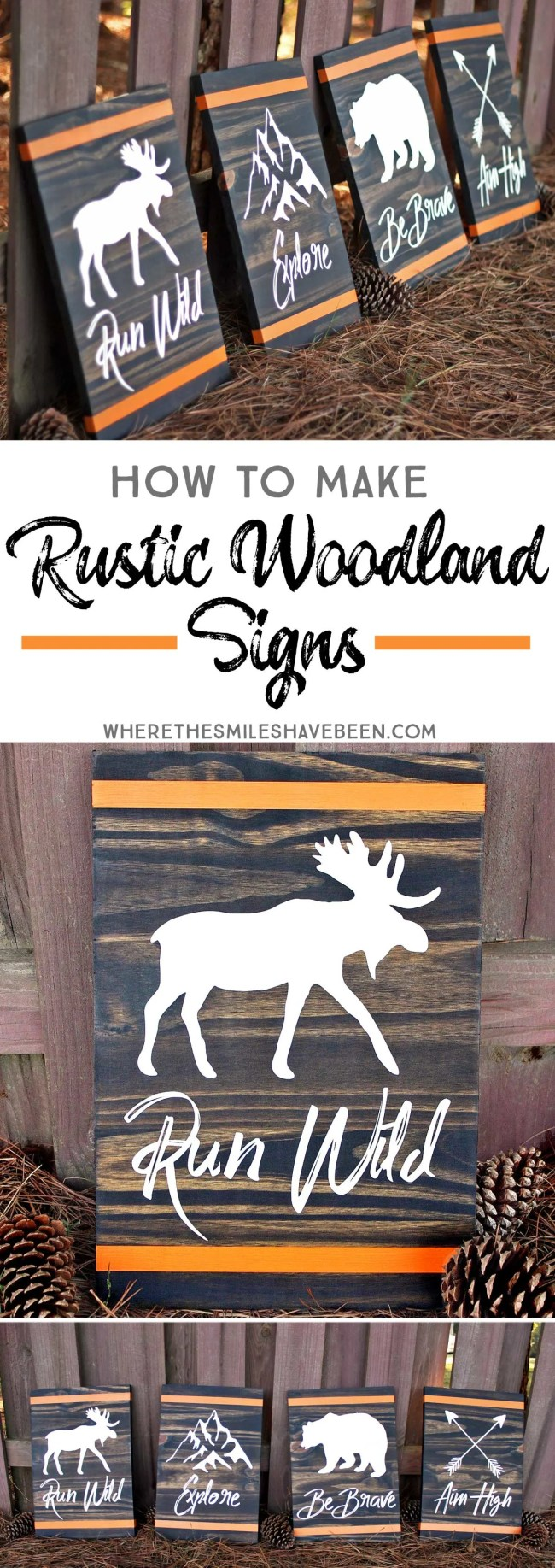 How to Make Rustic Woodland Signs   Where The Smiles Have Been