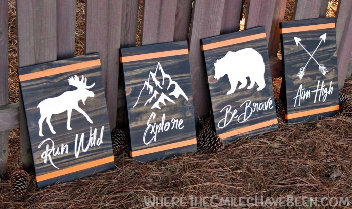 How to Make Rustic Woodland Signs | Where The Smiles Have Been