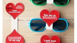 Sunglasses Valentine's Day Cards with FREE Printable & Cut File