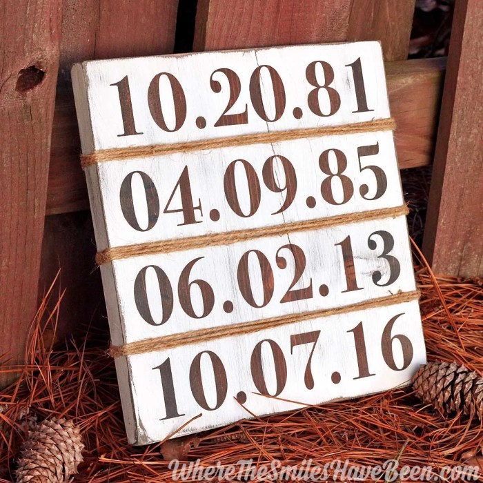 farmhouse family birthday sign by where the smiles have been