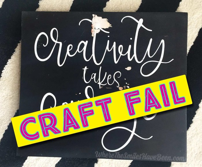 Craft FAIL!