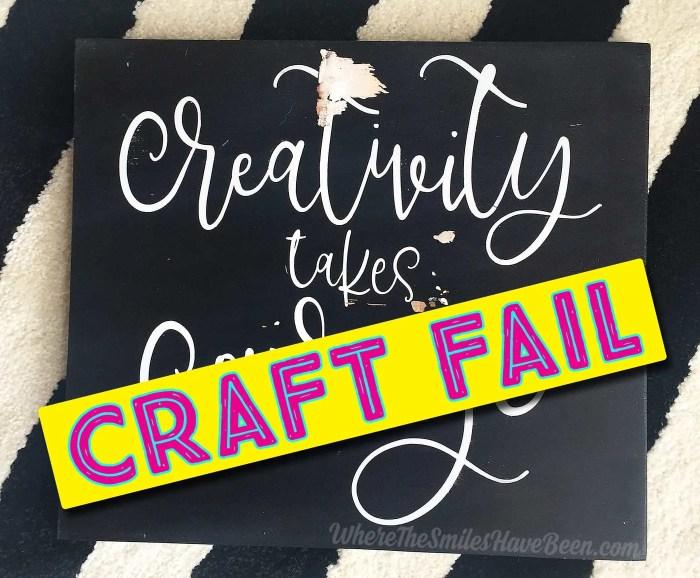 Craft FAIL!