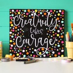 Colorful 'Creativity Takes Courage' Sign + FREE Cut File!