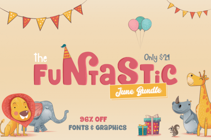 The Funtastic June Bundle from The Hungry JPEG! Save 20% with code SMILES20!