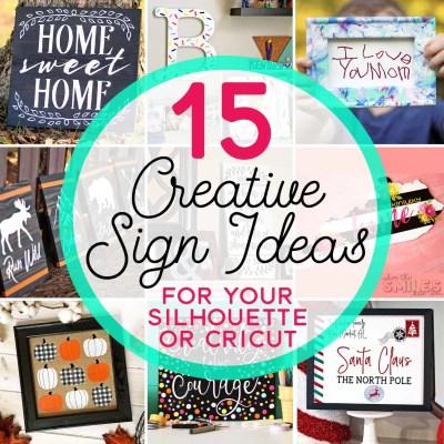 15 Creative Sign Ideas You Can Make with a Silhouette or Cricut | Where The Smiles Have Been #Silhouette #Cricut #DIY #sign #farmhouse #holidaydecor #homedecor #vinyl #HTV #stencils