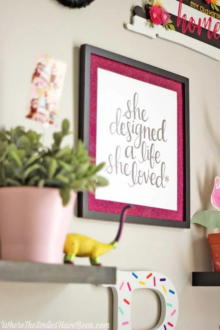 Love this Erin Condren print! Colorful Craft Room Gallery Wall + $100 Erin Condren Giveaway! | Where The Smiles Have Been