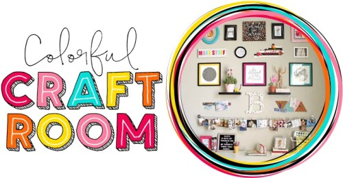 Colorful Craft Room at Where The Smiles Have Been!