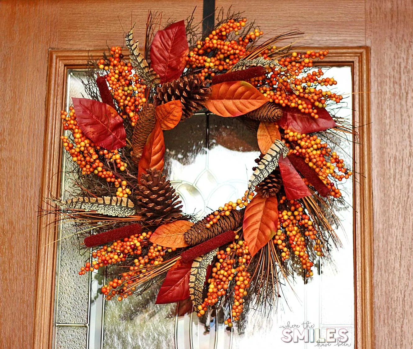 Fall Front Porch Decor: Our Happy Harvest at Home! | Where The Smiles Have Been #fall #porch #wreath