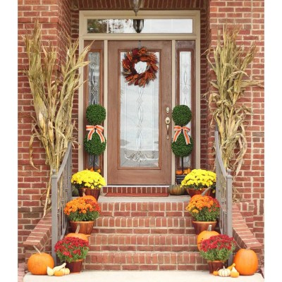 Fall Front Porch Decor: Our Happy Harvest at Home!