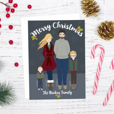 DIY Whimsical Family Portrait Christmas Card (& How You Can Make Yours)!