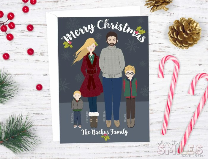 DIY Whimsical Family Portrait Christmas Card | Where The Smiles Have Been #Christmas #card #portrait