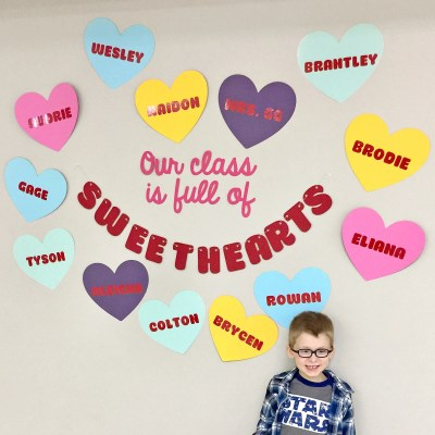 Classroom Valentine's Day Decor: Our Class is Full of Sweethearts! | Where The Smiles Have Been #ValentinesDay #conversationhearts #schoolparty