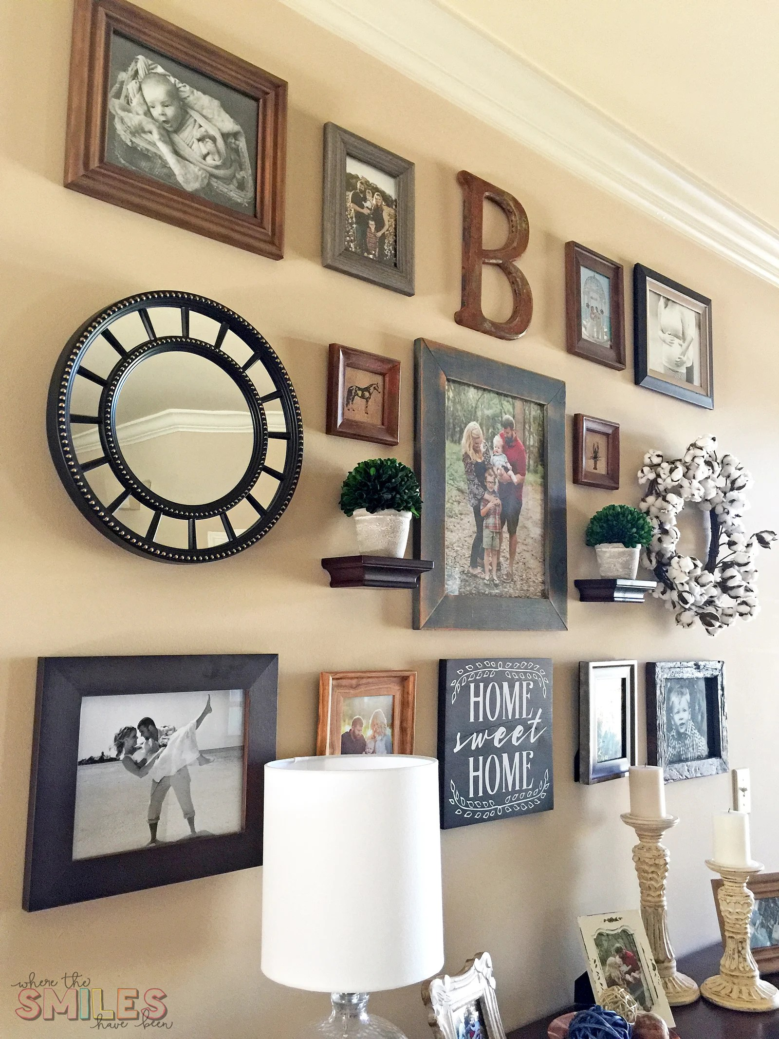 Modern Farmhouse Gallery Wall Reveal | Where The Smiles Have Been #farmhouse #modernfarmhouse #gallerywall #wallart