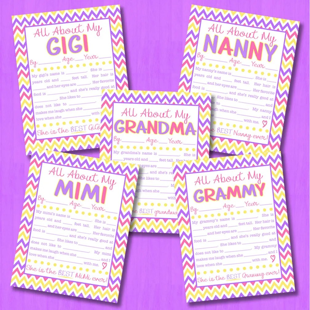 photo regarding All About My Grandma Printable referred to as All Above My Grandma Job interview with Free of charge Printable 8
