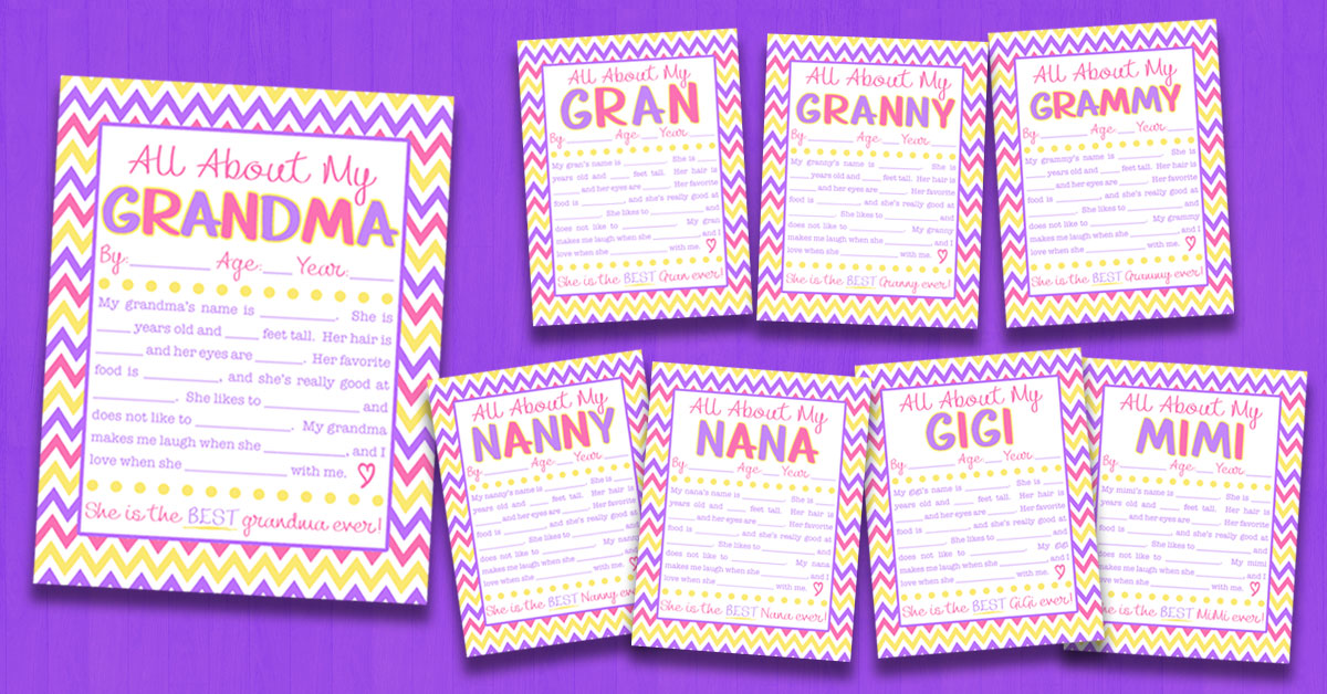 picture about All About Grandma Printable known as All Pertaining to My Grandma Job interview with Cost-free Printable 8