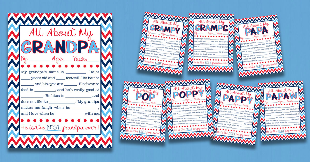 photograph relating to All About My Papa Printable named All Relating to My Grandpa Job interview with Absolutely free Printable 8