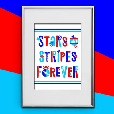 Funky Fourth of July FREE Printable: Stars & Stripes Forever!