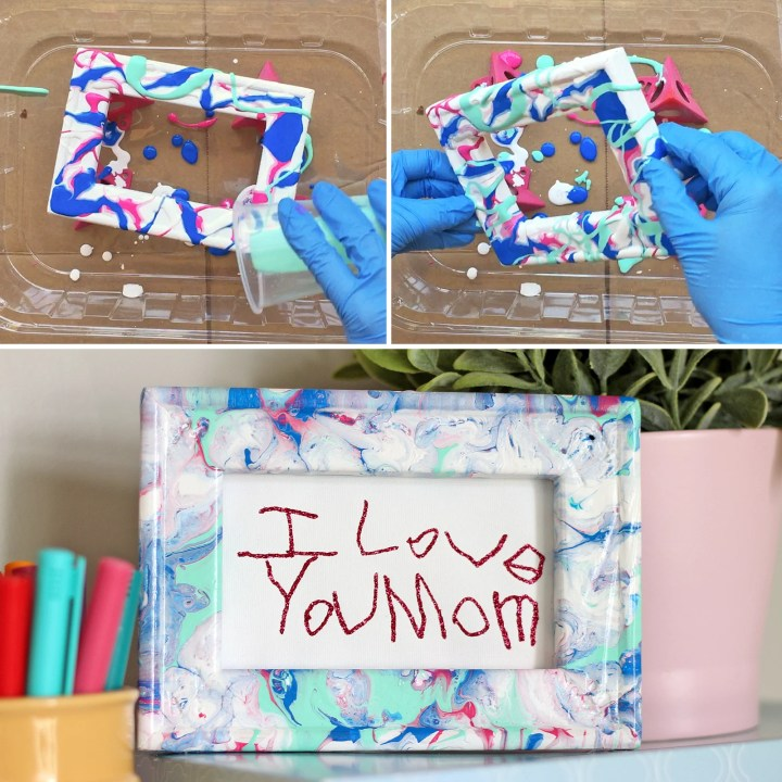 Paint Pouring Tips for the First-Timer: Reverse Canvas Frame Experiment