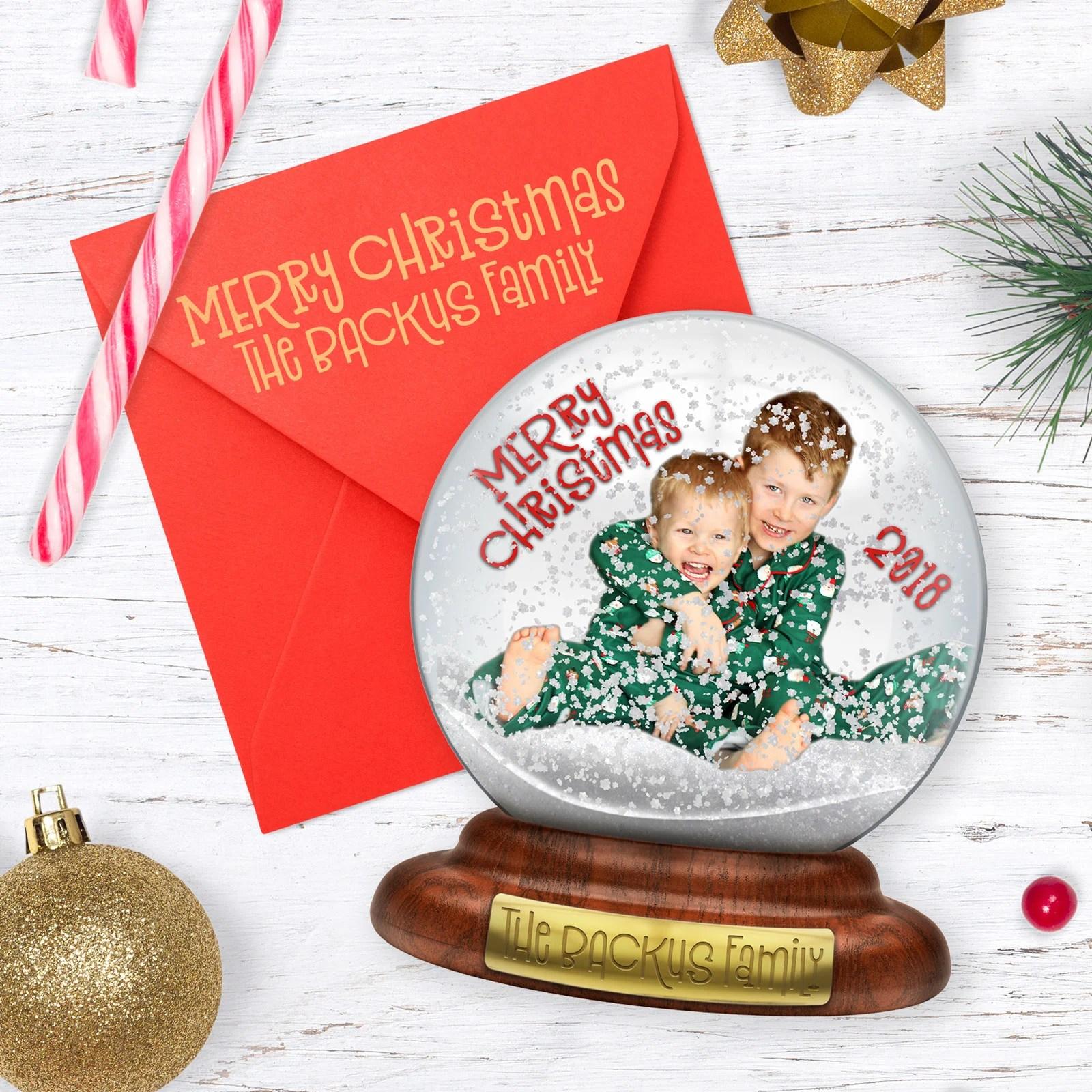 Unique Christmas Cards.Snow Globe Christmas Card A Cute Unique Diy Holiday Greeting