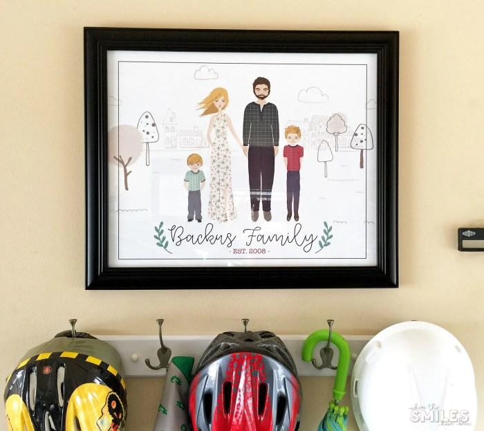 Garage Mini Mudroom Idea! | Where The Smiles Have Been #garage #mudroom #organization #garageorganization #familyportrait