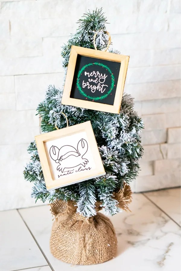 Mini Reverse Canvas Ornaments – Easy DIY Christmas Project