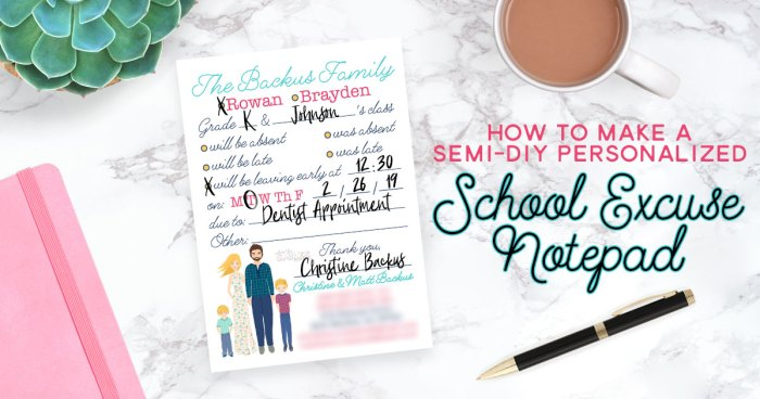 How to Make a Semi-DIY Personalized Notepad for School Excuses | Where The Smiles Have Been #School #Parenting #MomHack #Notepad #PersonalizedNotepad #OfficeSupplies