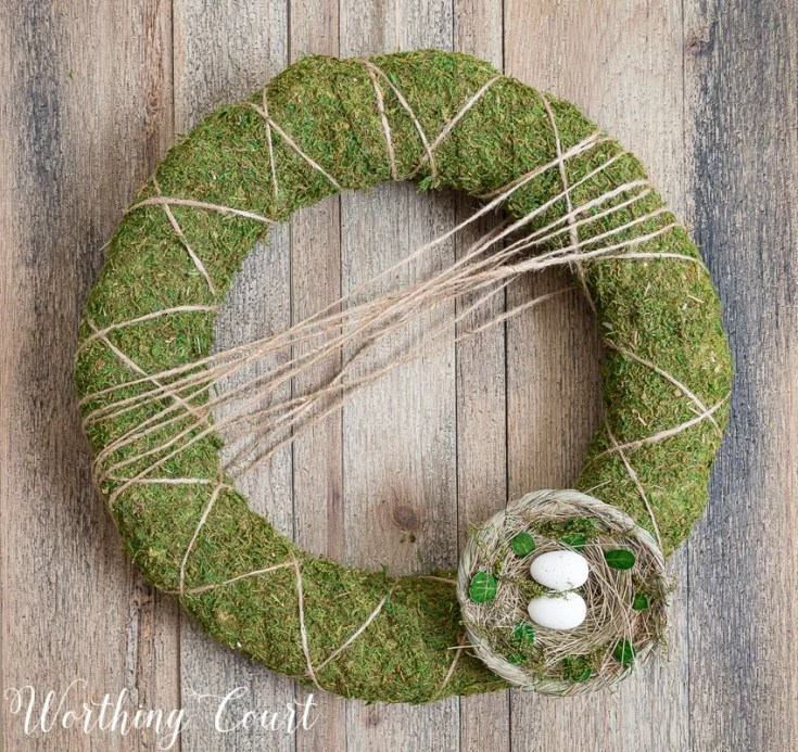 Neutral Moss Covered Wreath