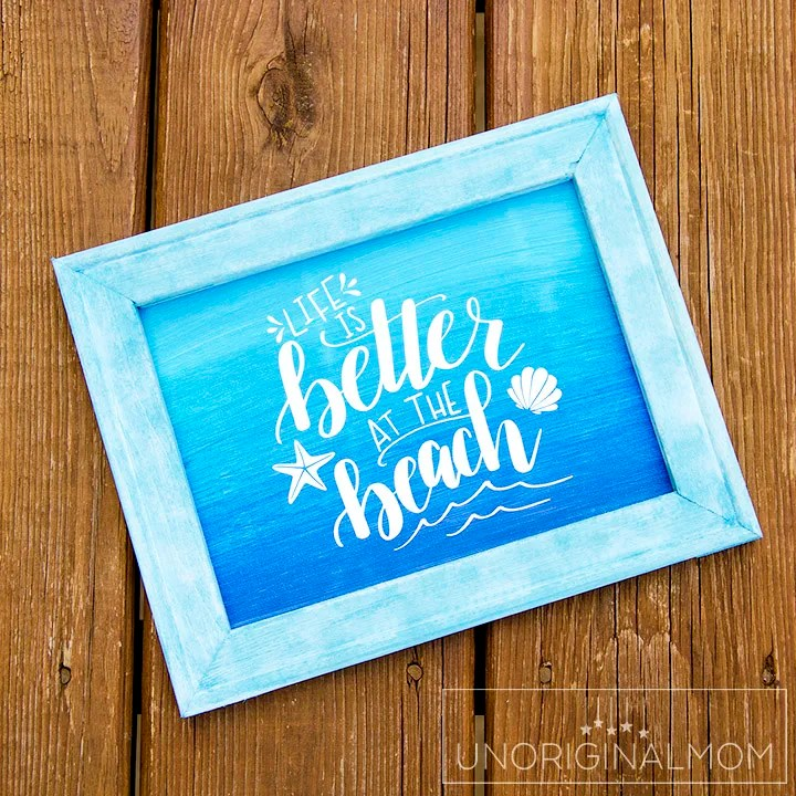 Ombre Reverse Canvas Sign + Free Cut File