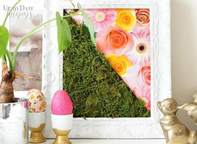 Framed Spring Moss Art