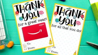FREE Teacher Appreciation Thank You Printable - Two Versions!