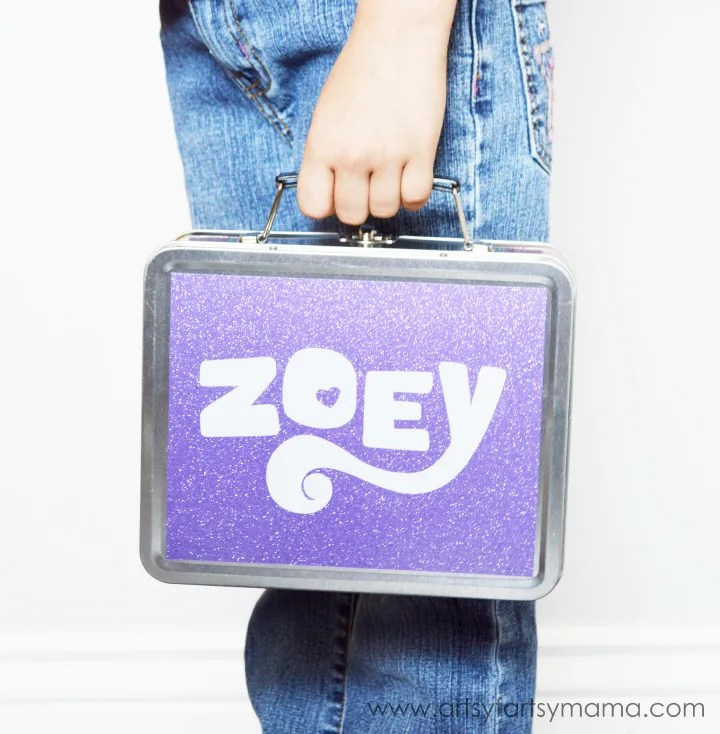 Personalized Lunch Box with a Vinyl Decal