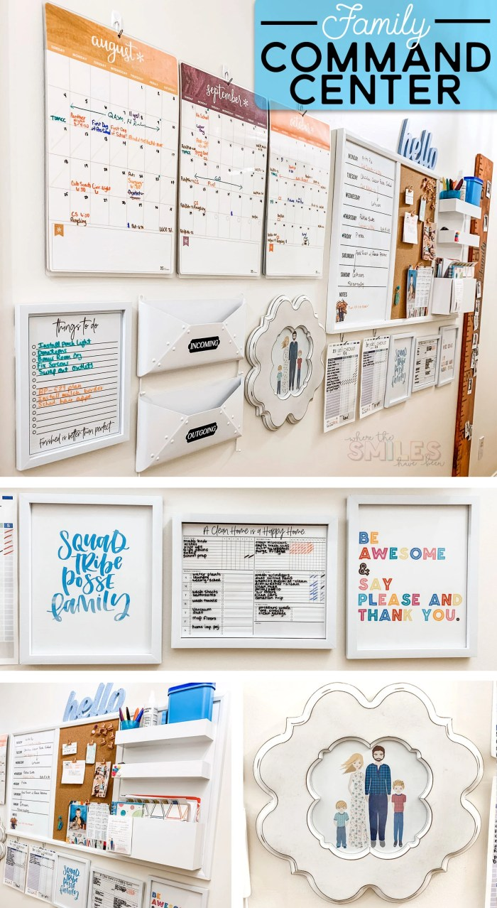 Hallway Family Command Center | Where The Smiles Have Been #commandcenter #familycommandcenter #home #organization #mealplanning #planner #cleaning #cleaningchecklist #chorechart #calendar #backtoschool #schoolorganization #growthchart #beforeandafter