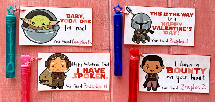 FREE Printable Baby Yoda & The Mandalorian Valentine's Day Cards | Where The Smiles Have Been #ValentinesDay #Valentine #ValentinesDayCards #FreeValentinesDayCards #StarWars #Yoda #BabyYoda #TheChild #TheMandalorian #ThisIsTheWay #Mando #FreePrintable #SchoolValentine