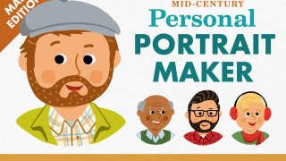 Mid-Century Personalized Portrait Maker