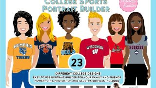 College Sports Fans Portrait Creators