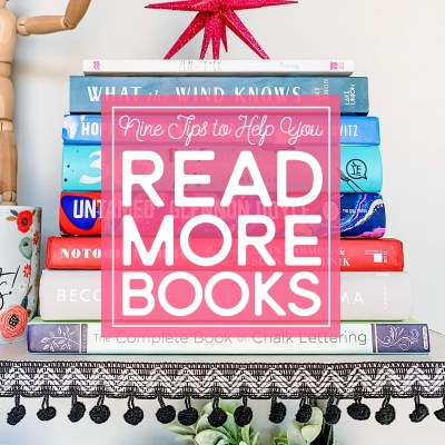 Nine tips to help read more books.
