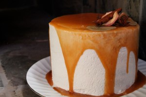 apple butter cake caramel mascarpone