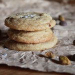 salted pistachio chocolate chip cookies