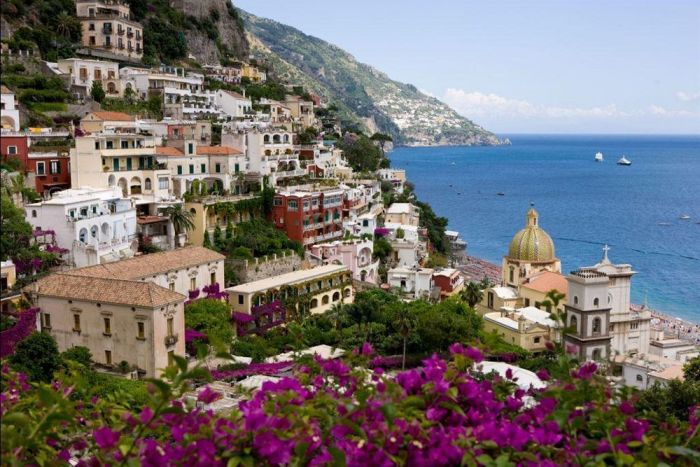Town of Positano on the Amalfi Coast