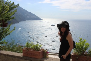 Kate in Positano