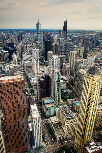 Looking Down Chicago William Woodward