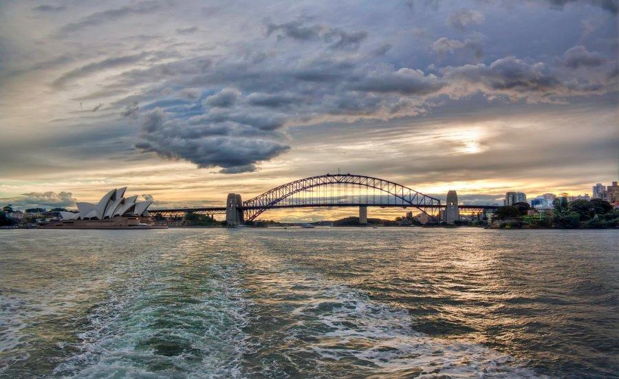 Opera& Harbour Sunset Sydney William Woodward