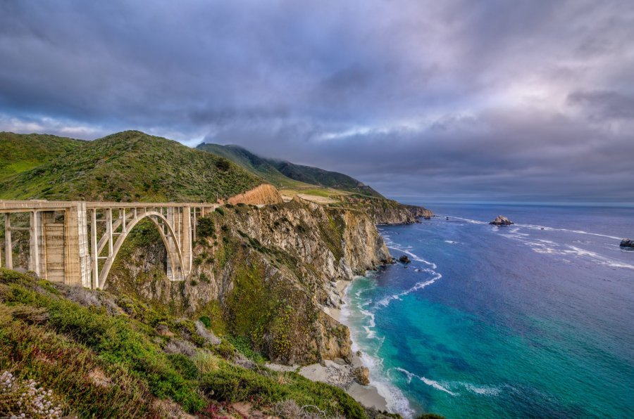 Blue Water Bixby Bridge William Woodward