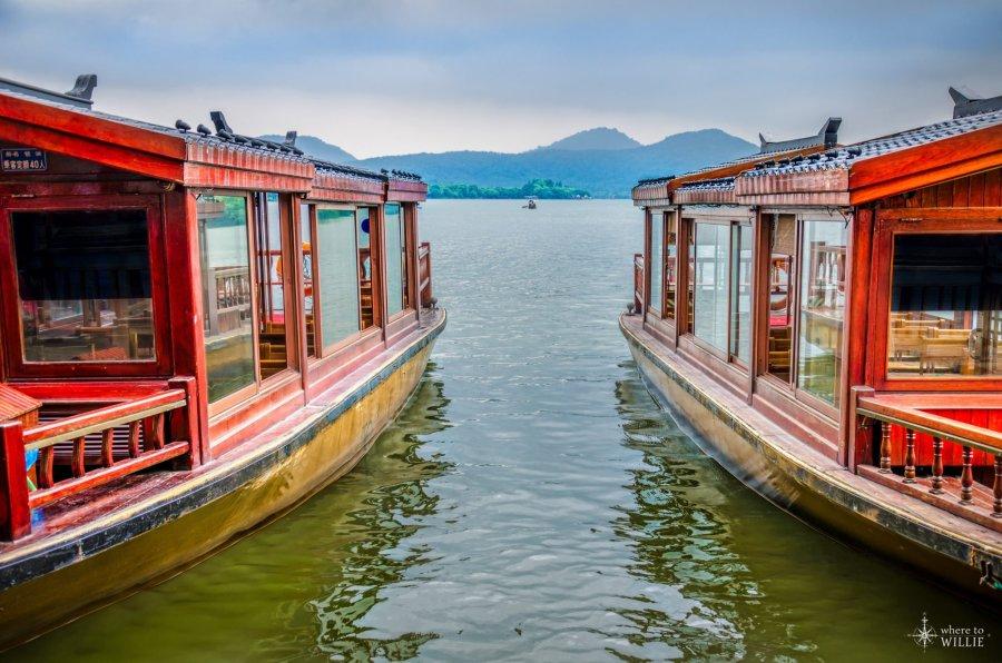 Boats West Lake China William Woodward